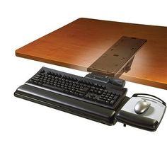 3M Easy Adjust Keyboard Tray Easy Adjust Keyboard Tray, Red #AKT151LE
