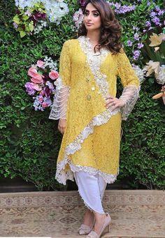 Casual Asian Fashion, Pakistani Fashion Casual, Pakistani Dresses Casual, Pakistani Dress Design, Casual Dresses, Eid Dresses, Stylish Dresses For Girls, Stylish Dress Designs, Frock Fashion