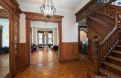 Brooklyn 6th Street brownstone interior foyer stairs | Flickr - Photo Sharing!