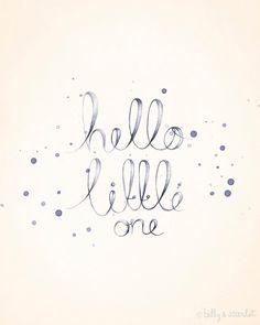 "Items similar to Baby Girl Nursery Decor - / Shabby Chic ""Hello Little One"" Art Print, Neutral Nursery Decor With Handwritten Typography on Etsy Baby Girl Nursery Decor, Baby Boy Nurseries, Nursery Ideas, Handwritten Typography, Script Fonts, Photo Images, Nursery Inspiration, Nursery Neutral, Baby Love"