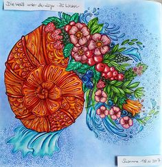 Such a lovely book! This was much fun to color  #dieweltunterderlupezuwasser #ritaberman #coloringbook #coloringbookforadults #happycoloring #polychromos #malbuch #malbücherfürerwachsene #