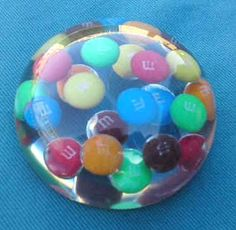 M and M Sweets Resin Dome Paperweight craft