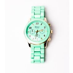 This Geneva oversize watch ($35) comes in a sweet minty hue...  — Christina Pérez, Fashion News editor