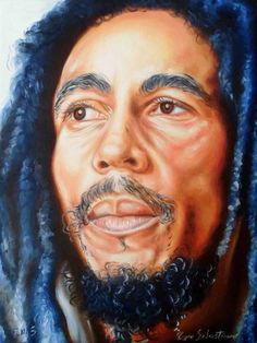 Bob Marley Portrait by https://www.facebook.com/pagesSebastianoTopo