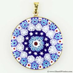 My new accessory craze millefriori murano glass pendants 3 millefiori pendant in gold plated frame 32mm mozeypictures Choice Image