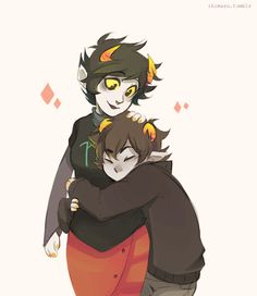 Awww! Kanaya and Karkat, pretty much best friends or siblings in my book...>>my children
