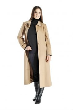 Cashmere Boutique: Women's Full Length Coat Overcoat Topcoat in Pure Cashmere Colors, Sizes: Cashmere Sweaters, Sweater Coats, Mens Overcoat, Wool Trench Coat, Camel Coat, Coats For Women, Clothes For Women, Comfortable Outfits, Wraps
