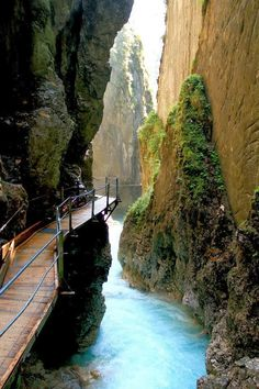 Thermal Waterfall Spa, Mittenwald, Germany #germany #europe 1.5 hours SW of Munich.
