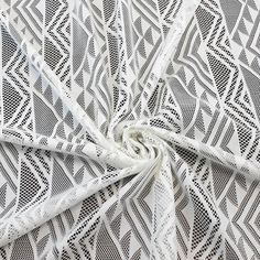 Tribal Lace Fabric Off White Geometric Lace by the by LaceFabrics