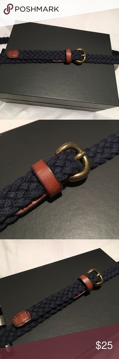 J. Crew Navy Woven Belt J. Crew Navy Woven Belt in Size Small/Medium J. Crew Accessories Belts