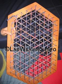 Basic Weaving Instructions for Hexagon Rectangle Weaving Loom Potholder