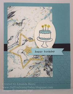 Did You Stamp Today?: Lost Lagoon & Gold Birthday - Stampin' Up! Endless Birthday Wishes