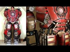 XRobots - Iron Man Hulkbuster Cosplay Part 32, Test Drive, Knee Mechanism - YouTube