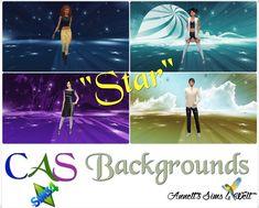 Star CAS Backgrounds at Annett's Sims 4 Welt via Sims 4 Updates