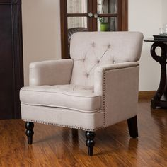 Christopher Knight Home Malone Beige Club Chair | Overstock.com Shopping - The Best Deals on Living Room Chairs 361