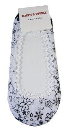 Happy & Lovely Fashion Slip-on Toe Cover Slippers Socks - White by Happy & Lovely. $3.99