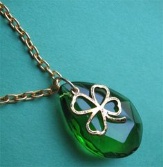 VINTAGE GREEN necklace. $28.00.  Love this!!  http://www.etsy.com/listing/123344023/vintage-green?#