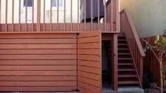 If your deck or porch is elevated, even a little, above grade level, it's best to polish off the underside with landscaping, skirting or other methods. Find and save ideas about Deck skirting ideas on here. House Skirting, Deck Skirting, Under Deck Storage, Porch Storage, Storage Area, Front Porch Deck, Deck Gate, Outdoor Deck Decorating, Under Decks
