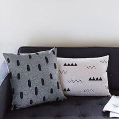 Modern, minimalist pillows