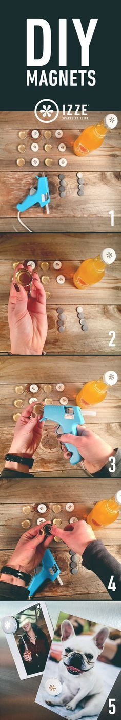 Easy IZZE #DIY bottle cap magnets? Yes please! #easycraft