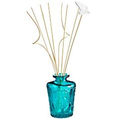Turquoise Pressed Glass Diffuser