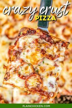 Pepperoni Pizza Rolls, Ham Pizza, Biscuit Pizza, Pizza Recipes, Appetizer Recipes, Flatbread Recipes, Slow Cooker Lasagna, Pizza Casserole, Thin Crust Pizza