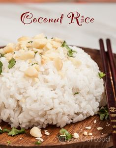 Coconut Rice (Stovetop!) - Just a few ingredients. So flavorful! Perfect side dish for any Asian meal. (GF)