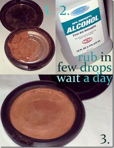 Save your broken blush and bronzer! Such a great tip!