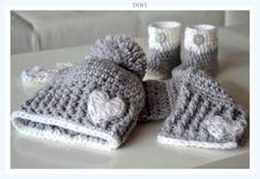 """❤ Baby Winter Set """"Little Heart"""" Häkelanleitung ❤ von  DO IT WITH LOVE auf DaWanda.com"""