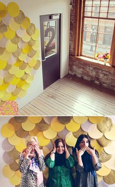 Scalloped photo backdrop from All & Sundry  We could do a DIY picture center for the guest book!