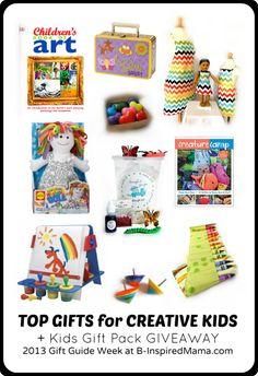 Creative Kids Gifts Giveaway http://b-inspiredmama.com/2013/11/creative-kids-gift-guide/