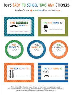Free Printable Bookplates [Back To School]