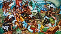 Hale Woodruff, The Mutiny on the Amistad (1939).
