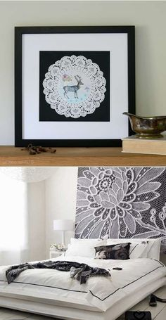 Amazing lace artworks for wall decorating