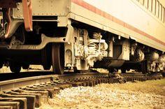 Old Train on Tracks 8x10 metallic print by MemoriesByTessa on Etsy