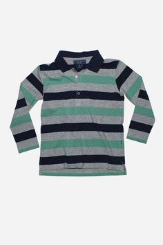 Toobydoo Green/Navy Rugby Shirt from Mini Ruby