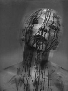 Haunting, conceptual black and white photography by Laurence Demaison - Bleaq Photography Pics, Figure Photography, Dark Thoughts, Creature Feature, Human Art, Elements Of Art, Best Photographers, Photo Manipulation, Dark Art