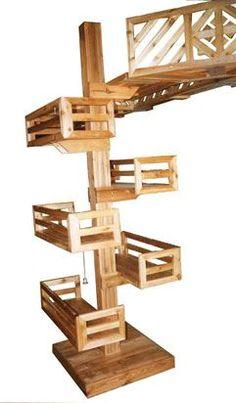 we love cats. Diy Cat Tower, Cat Climber, Cat Stands, Cat Shelves, Cat Playground, Cat Enclosure, Ideias Diy, Cat Room, Cat Condo