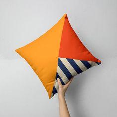 Colorblock Geometric Abstract Pillow, Decorative Cushion, Modern pillow cover, Pillowcases, T. Sewing Pillows, Diy Pillows, Cushions On Sofa, Throw Pillows, Cushion Cover Designs, Pillow Cover Design, Cushion Covers, Modern Pillow Covers, Modern Pillows