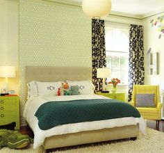 kid's room but done in a very grown up way. How cute are the matching side lamps?!