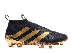 Adidas Enfant/Femme Football Chaussures ACE 16+ Purecontrol Paris Pack terrain souple Noir/Or