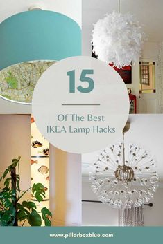 15 amazing IKEA lamp hacks you'll want to try. Easy ways to create affordable and unique designer lighting for your home with cool hacks. Ikea Lamp, Ikea Decor, Diy Light Fixtures, Best Ikea, Home Decor Inspiration, Decor Ideas, Unique Lighting, Decorating On A Budget, Furniture Makeover