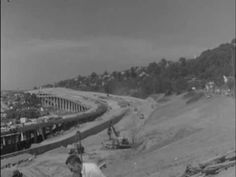 Construction of Interstate 5 in Seattle, c. 1958 Western Washington, Seattle Washington, Washington State, Modern History, Local History, Seattle Housing, Interstate 5, Starbucks Seattle, Seattle Street