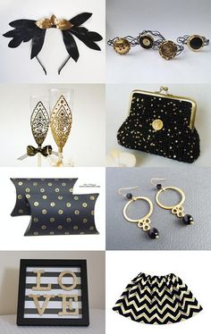 black and gold by decoratore on Etsy--Pinned with TreasuryPin.com