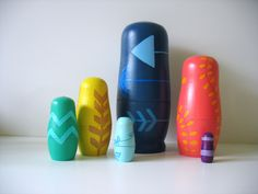 Abstract Matryoshka Dolls