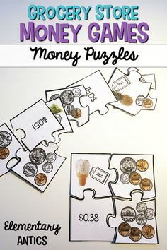 I am always looking for new money games to use as centers in my 2nd grade class.  Students love learning about money with these grocery store money games and activities!