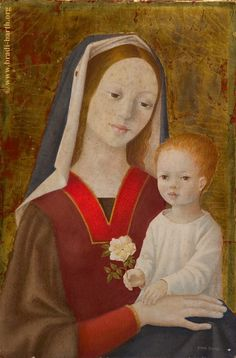 Bradi-Barth - VE-355 Jesus Mother, Blessed Mother, Mother Mary, Religious Icons, Religious Art, La Madone, Catholic Pictures, Jesus Mary And Joseph, St Therese Of Lisieux