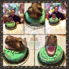 RAWR Jurassic World Velociraptor Cake Cake by Cakes ROCK