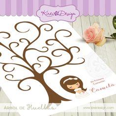 Árbol de firmas o huellas para comuniones | Todo Primera Comunión