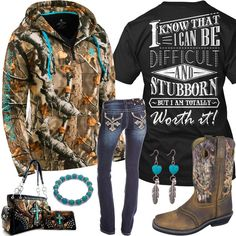 I want the shirt :) XL I Am Totally Worth It Camo Hoodie Outfit - Real Country Ladies Country Girl Outfits, Country Girl Style, Country Fashion, Country Girls, My Style, Country Girl Clothes, Camo Outfits, Cowgirl Outfits, Western Outfits